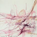 Lines 6 - II. Watercolour on Paper. 17.9 x 18cm. 2012. © 2012 VICTORIA CATTONI ALL RIGHTS RESERVED